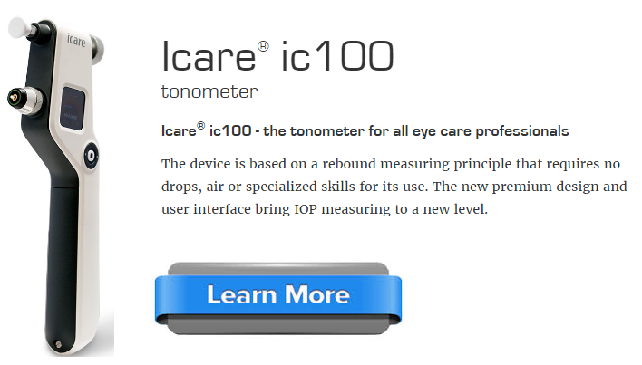 Icare ic100 tonometer   learn more